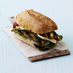 A fresh and superfast dinner (or lunch), these grilled vegetable sandwiches cover all the tasty bases. Get your fill with eggplant, zucchini, and sweet onion. Don't forget the olive tapenade! Recipe: Grilled Vegetable Sandwiches   - CountryLiving.com