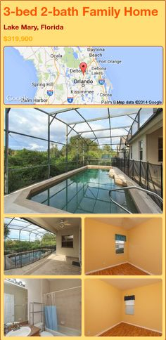 3-bed 2-bath Family Home in Lake Mary, Florida ►$319,900 #PropertyForSale #RealEstate #Florida http://florida-magic.com/properties/79380-family-home-for-sale-in-lake-mary-florida-with-3-bedroom-2-bathroom