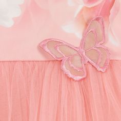 Junona - Girls Pink Tulle Tulip Dress   Childrensalon
