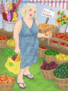 Women can be healthy at a range of sizes and weights-A common sterotype is that large women do not eat fresh fruits or vegtables but eat junk food-not true.