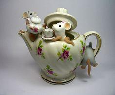 Tea for three teapot.
