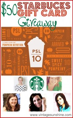 Starbucks Giveaway: Happy Fall!
