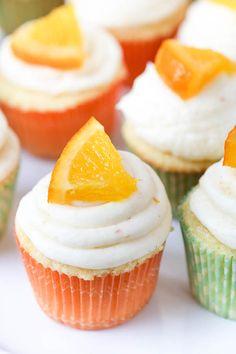 Mini Orange Creamsicle Cupcakes + Surprise Baby Shower! - greens & chocolate