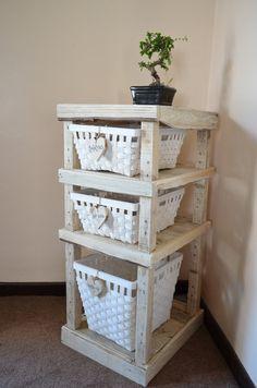 Custom handmade shelf-Recycled rustic reclaimed-Wood Pallet Shelf-beach house, cottage decor