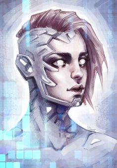 Sashajoe's art is really unappreciated. A LOT. Sci-Fi Girl. Sketch by sashajoe
