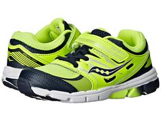 Saucony Kids Zealot (Toddler/Little Kid) Citron/Navy - Zappos.com Free Shipping BOTH Ways