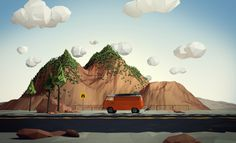 Road Trip by Aldo Pulella, via Behance