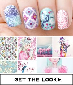 pastelized Asia manicure / MoYou London