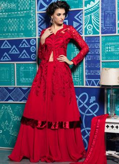 Pristine Georgette Anarkali Suit www.ethnicoutfits.com Email : support@ethnicoutfits.com What's app : +918141377746 Call : +918140714515