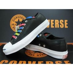 Converse Jack Purcell Leather Black Colorful