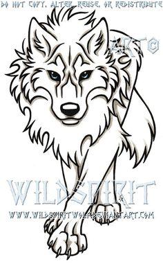 Blue-Eyed Stalking Wolf Tattoo by WildSpiritWolf.deviantart.com on @DeviantArt