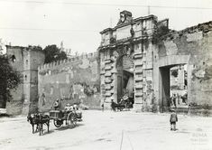 Porta San Giovanni ca) Vintage Photos, Rome, Times Square, Street View, Italy, San, Architecture, Travel, Photographs