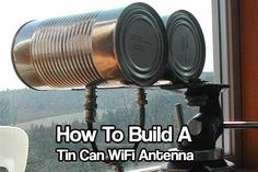 How To Build A Tin Can WiFi Antenna / WiFi-Antenne mit Konservendosen selber bauen Linux, Claves Wifi, Wifi Extender, Wifi Antenna, Diy Electronics, Electronics Projects, Alternative Energy, Cool Gadgets, Wi Fi