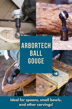 Quickly create concave surfaces and undercuts in wood for small spoons, carvings, and more! Create with confidence here.  #createwithconfidence #arbortech #rockler #ballgouge #powercarving Woodworking Hand Tools, Cool Woodworking Projects, Woodworking Shop, Wood Carving Tools, Crafts To Sell, Helpful Hints, Things To Sell, Tools For Working Wood, Useful Tips