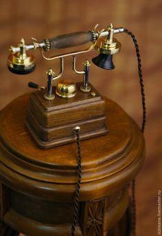 Купить Ретро телефон (миниатюра) - золотой, модели, коллекционирование, ретро телефон, копия, латунь, бук