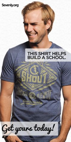 Imagine not being able to send your child to school....What hope for the future would they have?    These shirts help support the education of underprivileged kids.    Help a child learn ➤ www.sevenly.org/Ryan