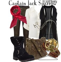 """Captain Jack Sparrow"" by lalakay ❤ liked on Polyvore"