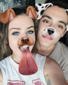 First of all, THEY'RE SO FLIPPING CUTE! Second of all, this could be us, but you don't take pictures with the dog filter I bet you thought this was going somewhere else..lmao. Nope.
