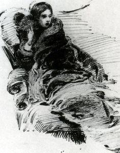 Lady in furs - Mikhail Vrubel