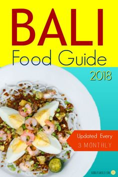 Bali Food Guide lists eating out in Bali restaurants, street foods, Indian and vegetarian restaurants including the prices. List is updated every 3 months. Bali Travel Guide, Packing List For Travel, Travel Tips, Bali Cruise, Bali Restaurant, Cheap Holiday, Holiday Ideas, Plan My Trip, Food Lists
