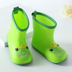 Voberry Infant Baby Waterproof Dot Bowknot Rubber Rain Boots Kids Children Rain Shoes