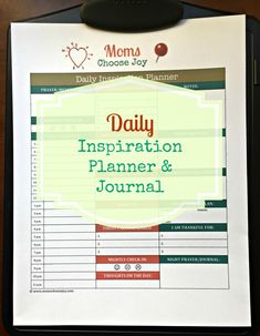 Finally, A Day Planner For Busy Moms That Not Only Helps You Plan Your DAY But Also Helps You Plan Your LIFE. This FREE Printable Will Be Emailed To You Immediately. Start LIVING Your INSPIRED LIFE Today!