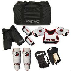 Youth Hockey Protective Kit Starter Set Kids Equipment Gloves Bag Shin Pads New on eBid United States