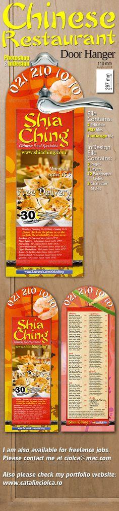 Go Fresh Restaurant Door Hanger Door hanger template, Hanger and