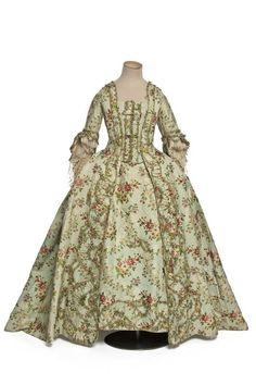 Robe à la française, 1760-65 France, Les Arts Décoratifs