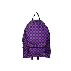 Yak Pak Black And Purple Checkered Backpack (62 CAD) ❤ liked on Polyvore featuring bags, backpacks, accessories, purple, purses, rucksack bags, yak pak, purple backpack, yak pak bags and checkered backpack
