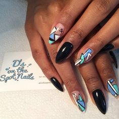 Abstract beauties by @dsonthespotnails #inm #inmnails