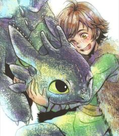 HTTYD. Hiccup and Toothless. :)