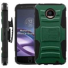 Buy Motorola Moto [Z Force] Droid Armor Case [Case86] [Black/Black] Dual Hybrid Armor Phone Case - [Green] for Moto Z [Force] NEW for 13.95 USD   Reusell