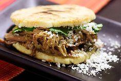 Venezuelan-style Arepas with Pulled Pork (Arepas Rumberas) — Recipe from Serious Eats