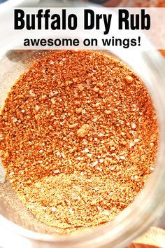 Buffalo Dry Rub for Chicken Wings - Buffalo dry rub that is AMAZING on chicken wings. It's not too spicy, but you can easily adjust t - Chicken Wing Seasoning, Chicken Spices, Buffalo Wings Seasoning Recipe, Buffalo Wild Wings Dry Rub Recipe, Homemade Spices, Homemade Seasonings, Spice Rub, Dry Rub For Chicken, Smoked Chicken Wings Rub
