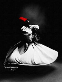 For Rummi Poster Persian Calligraphy, Calligraphy Art, Islamic Posters, Islamic Art, Motifs Islamiques, Dancer Drawing, Rumi Poetry, Whirling Dervish, Sad Wallpaper