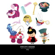 Alice in Wonderland Clip Art- Clipart, Vector Art, Graphics for Personal & Commercial Use