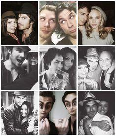 Ian & TVD cast. <3