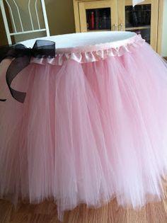 Baby Shower Anniversaire Tulle TABLE JUPES Infant Party Tutu chaise haute jupe decor