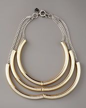 Giles & Brother by Philip Crangi  Triple Tube Necklace