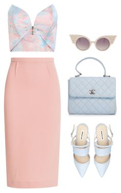 """""""236"""" by reginasiena ❤ liked on Polyvore featuring Roland Mouret, Zimmermann, Chanel and Jeremy Scott"""
