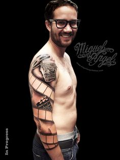 Custom Sleeve film tattoo (the onwer)   Flickr - Photo Sharing!