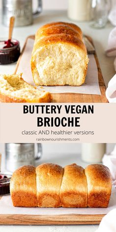 Buttery and fluffy vegan brioche with a tender crumb which just melts in your mouth. I included a 'classic' version using vegan butter and 'healthier' version with spelt flour, olive oil and no refined sugar! Vegan Foods, Vegan Dishes, Vegan Recipes, Whole30 Recipes, Vegan Bread, Vegan Butter, Fun Desserts, Dessert Recipes, Cake Recipes