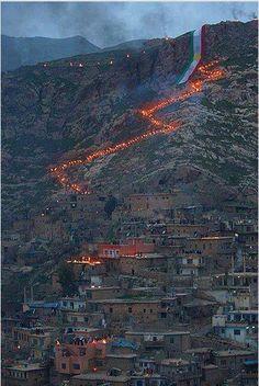 Newroz in the Kurdish Area of Iraq.