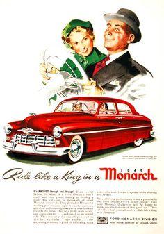 Ride like a king, 1949 Monarch advertisement