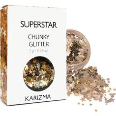 Superstar Glitter Face Body Nails Hair Festival Gems Beauty Makeup... ($6.80) ❤ liked on Polyvore featuring beauty products, beauty, bath & beauty, makeup & cosmetics and silver