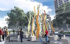 Designs unveiled for Indiana`s Bicentennial Plaza #landscape #architecture #sculpture