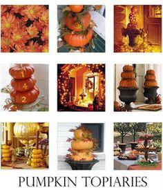 Pumpkin topiaries Pumpkin Crafts, Fall Crafts, Holiday Crafts, Holiday Fun, Holiday Decor, Holiday Ideas, Family Holiday, Festive, Holidays Halloween