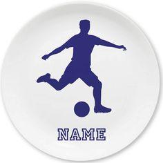 Nicht nur für Dribbelkünstler ein Volltreffer! Melamin-Teller mit Fußball-Motiv und eigenem Namen