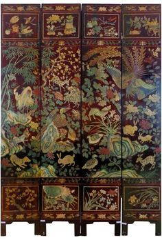 "19th Century Chinese Four-Panel Screen | <a href=""http://1stdibs.com"" rel=""nofollow"" target=""_blank"">1stdibs.com</a>"